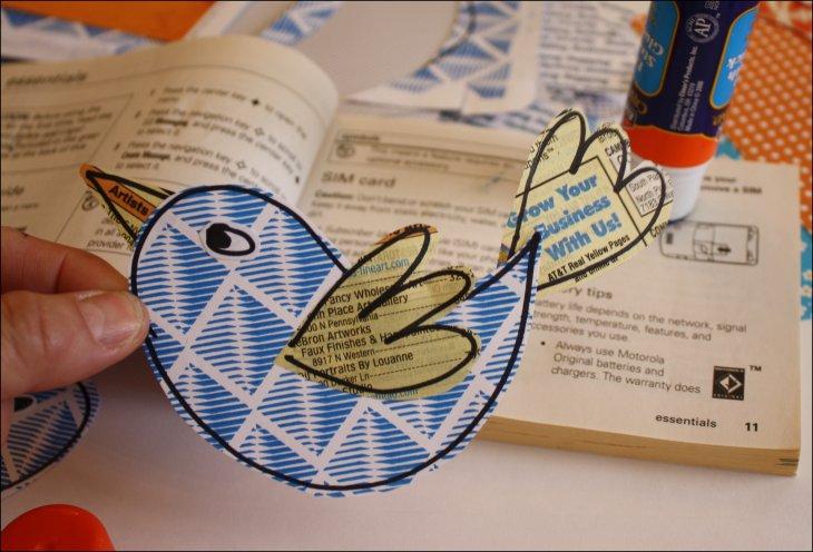 Recycled birdie