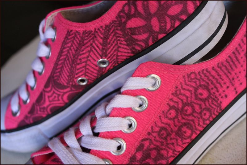 Tangled Pink Tennies Detail