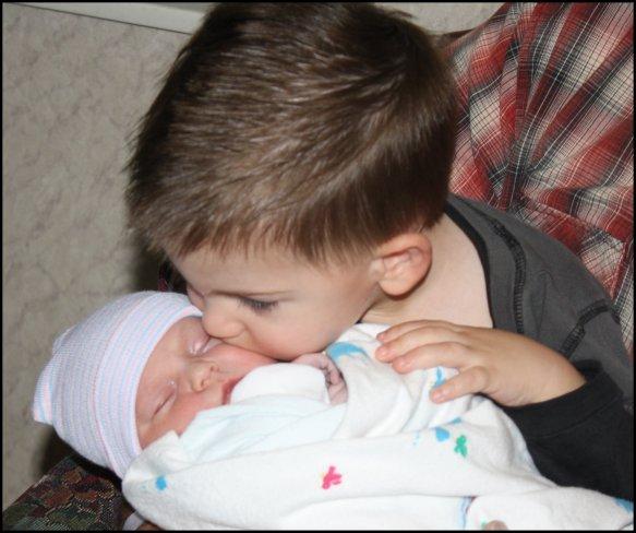 Little Man meets Baby Girl