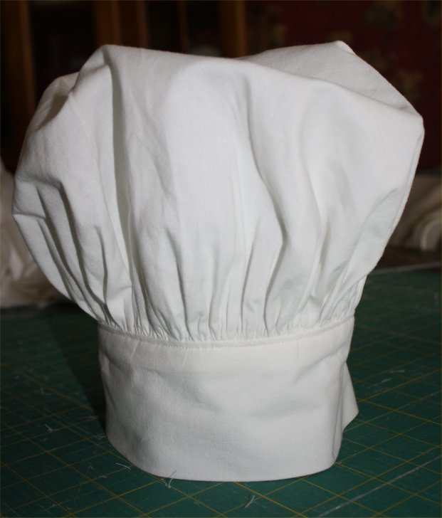Finished chef's hat