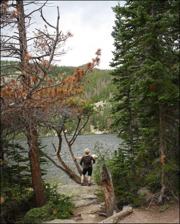 Bear Lake - Watching the fishees splash.