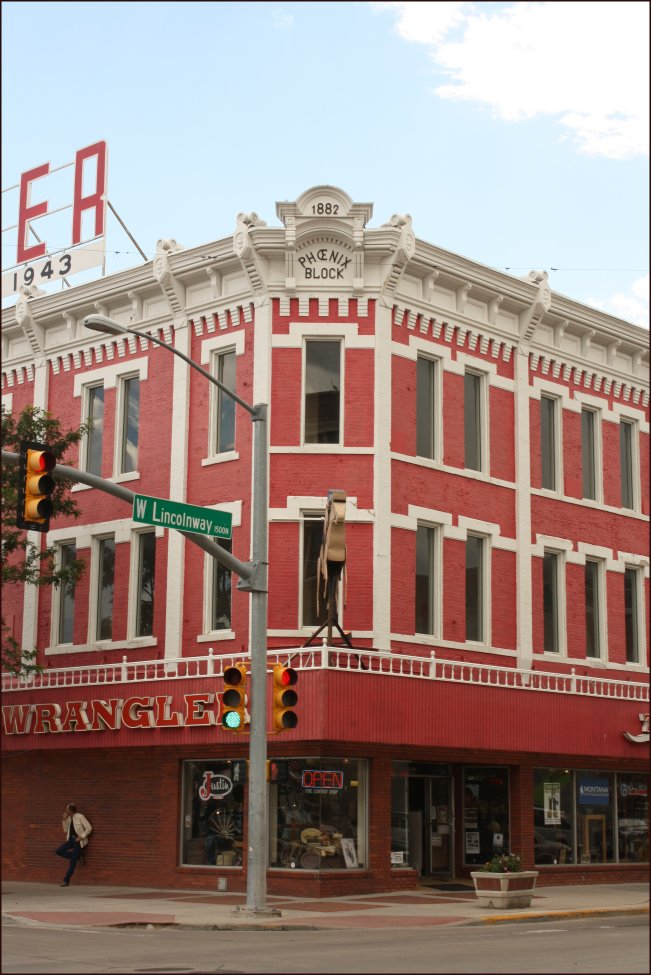 Pretty red building in downtown cheyenne
