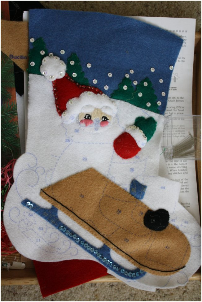 Stocking in progress