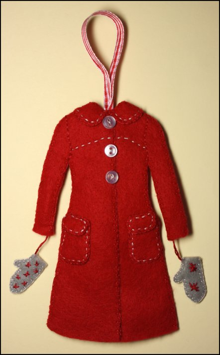 Red Winter Coat Ornament