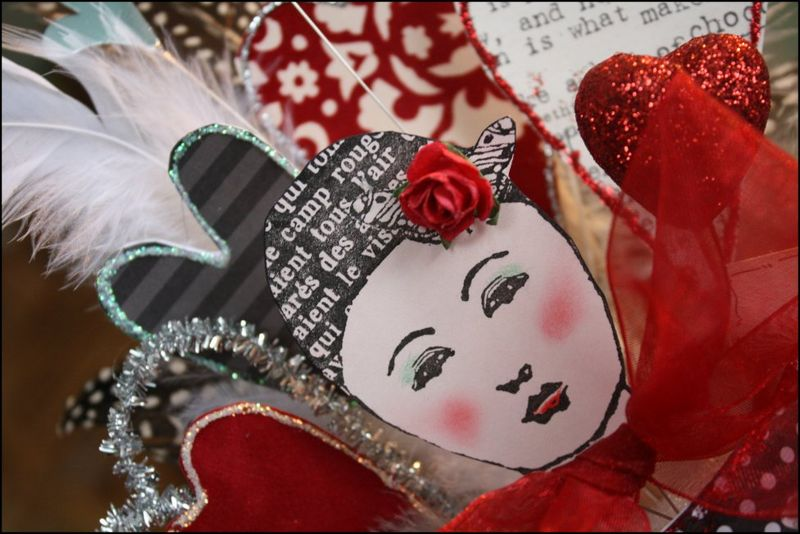 Valentine Detail - Red, Black and White