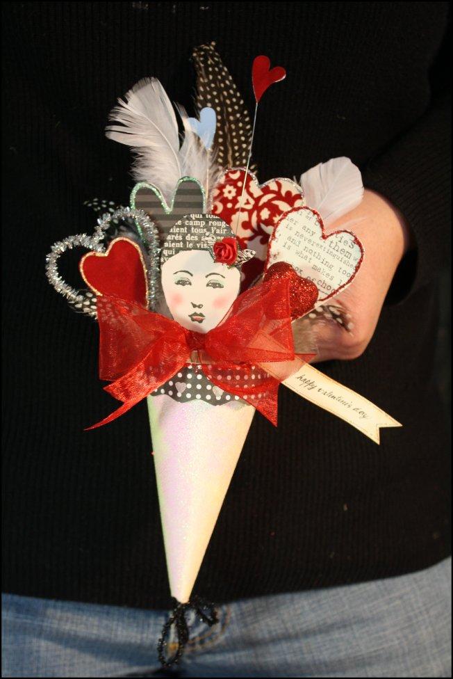 Valentine Cone - White Sparkle - Able Baker Dana's