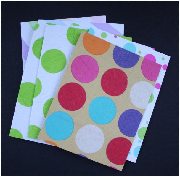 Used tissue paper note cards