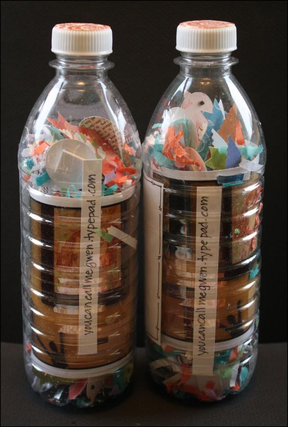 Bottles of paper birds
