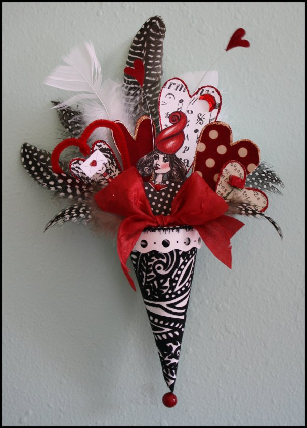 Queen of Hearts in Black and Red