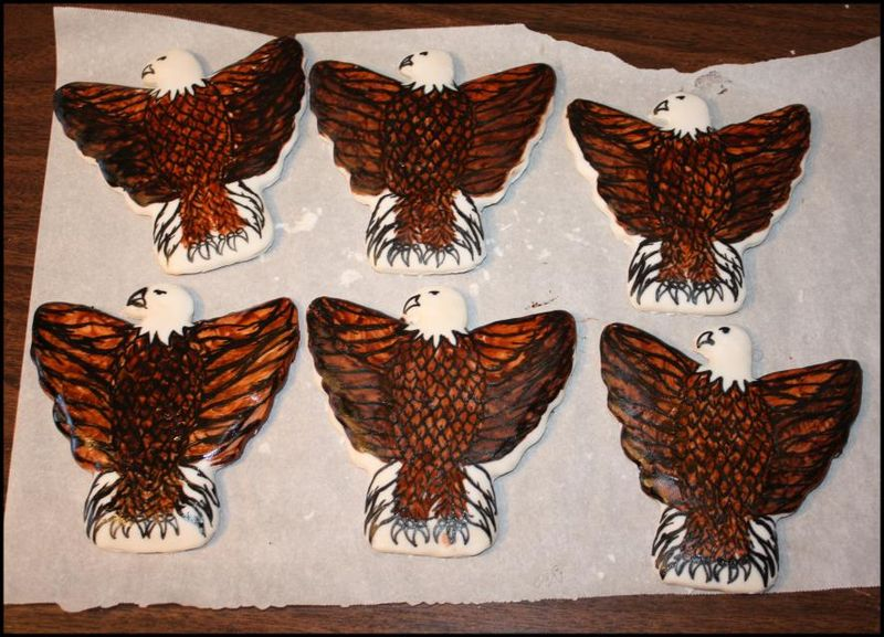 Hand painted eagle cookies
