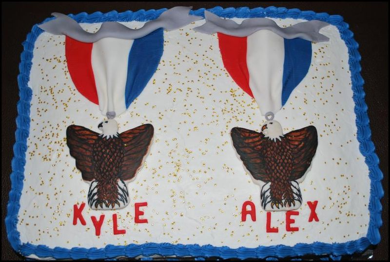 Eagle Scout Cake - White