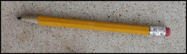 Pencil from the street april 27