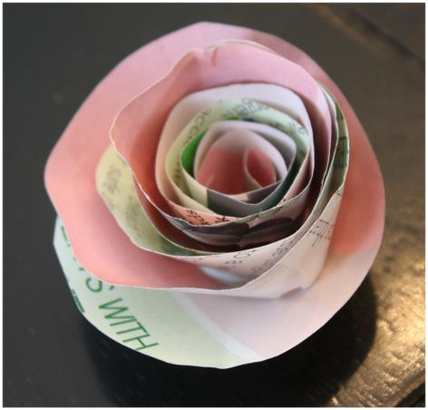 Light pink paper rose