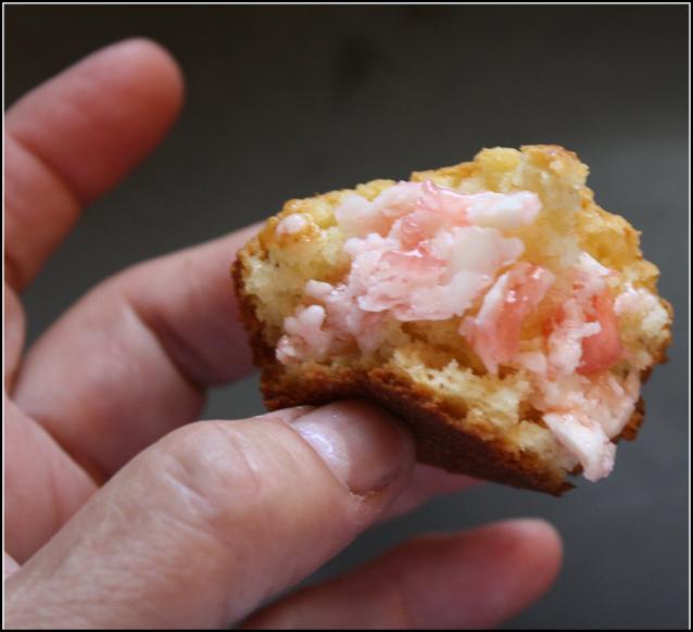 A bite of peach muffin