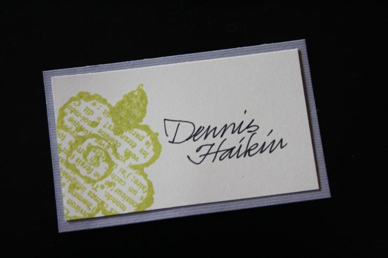 Handmade name tags
