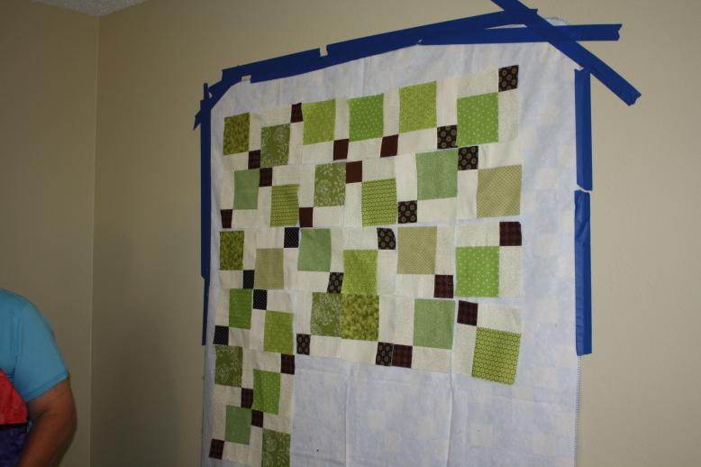 Quilt Camp Design Wall Disappearing 9 Patch