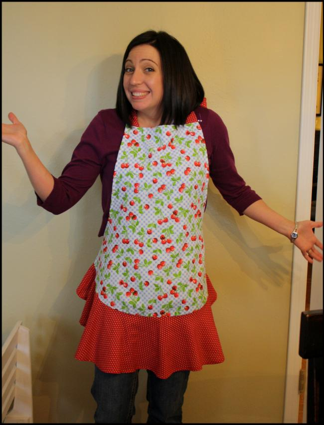 Sweet apron, sweeter girl