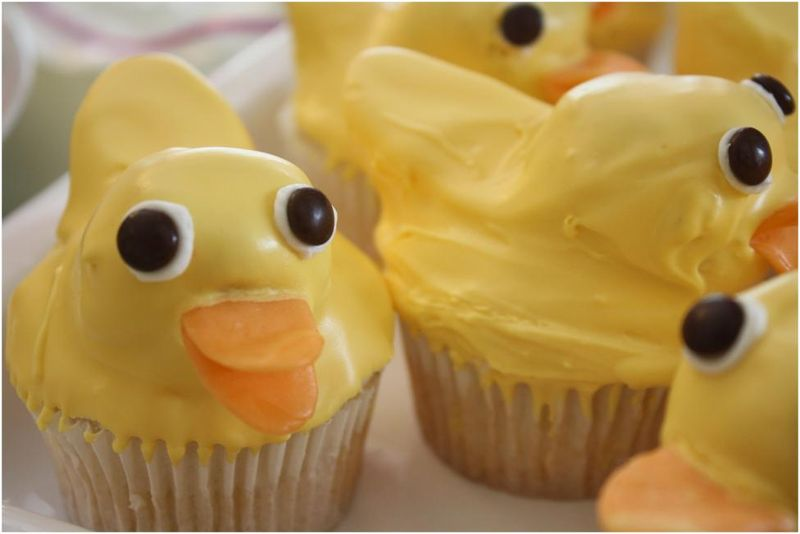 Duck Cupcakes Close up
