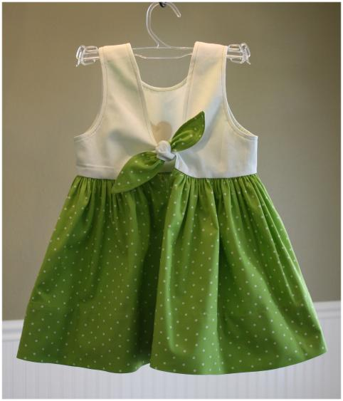 Child's dress - rear view