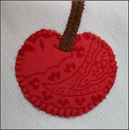 Cherry applique detail