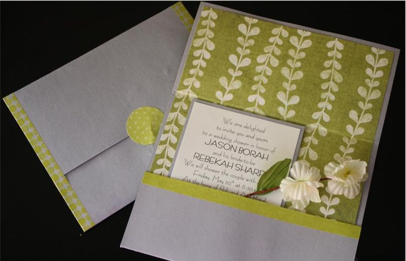 Handmade shower invitations