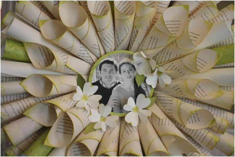 Wreath for wedding shower