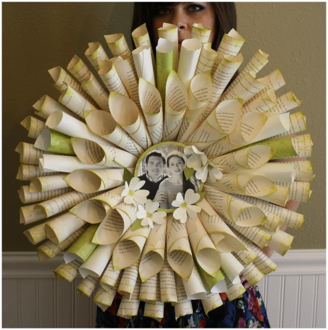 Wreath for book lovers