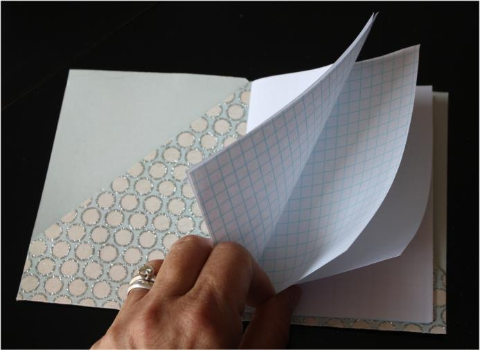 Alternating plain and graph paper pages