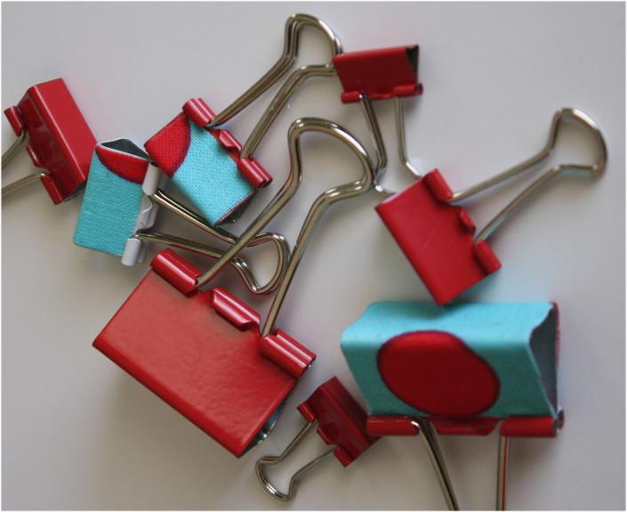 Binder Clips Covered with Fabric