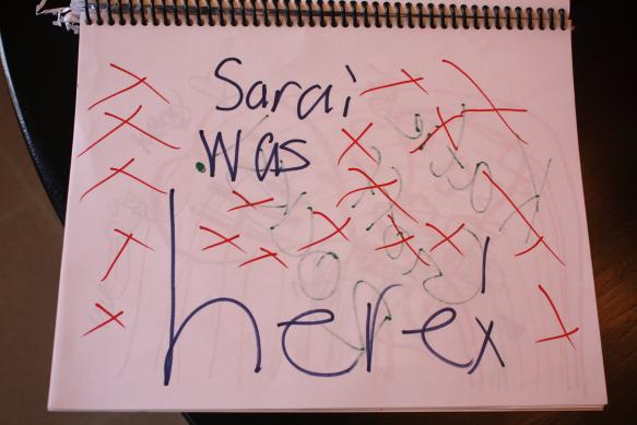 Odd Collections - Sarai was here.
