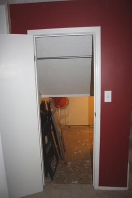 Under stair closet - before