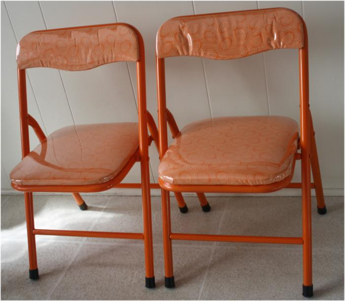 Rescued chairs before and after - all finished