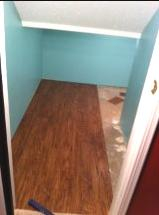 Closet-to-playspace - installing new flooring
