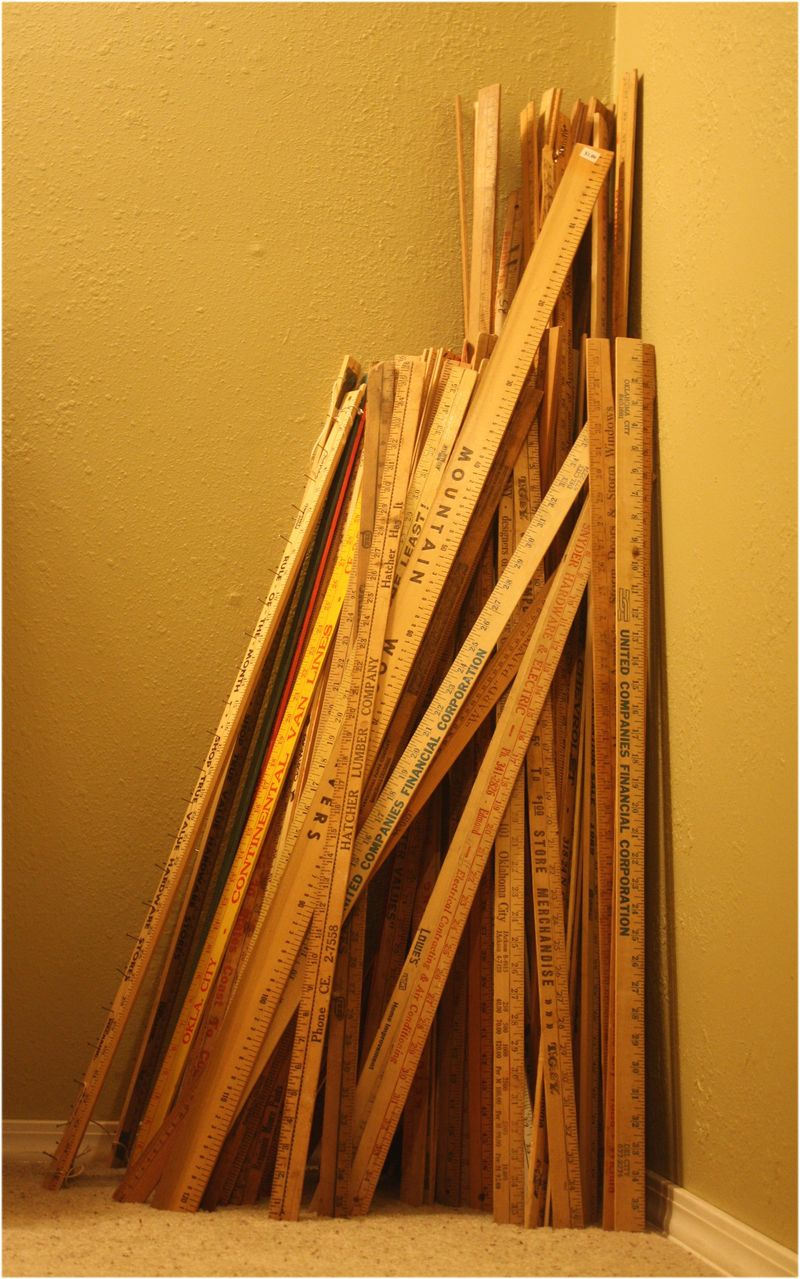 Yardstick collection - I want to lay a floor with them