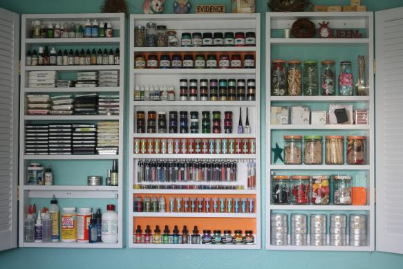 Craft Room Storage - Shelving One - Open Doors