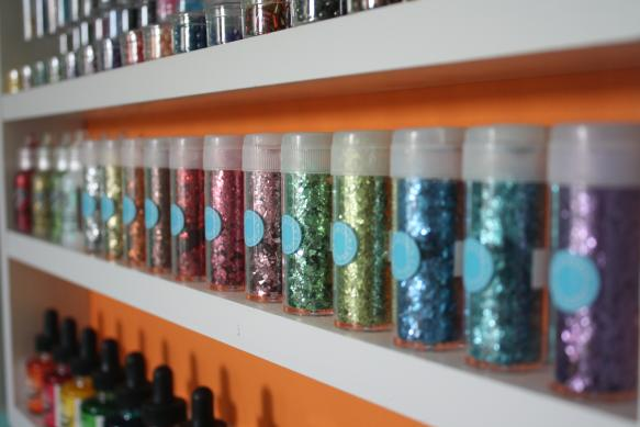 Craft Room Storage  - Glitter Flakes - Shelving One
