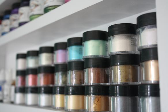 Craft Room Storage - Powdered Pigments - Shelving One
