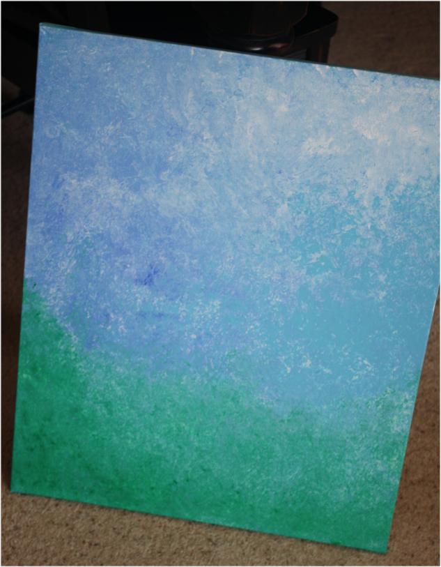 Painting a background on canvas