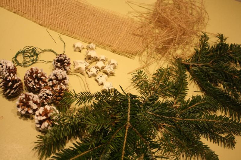 DIY Free Christmas Decorations for Dining Chairs - The Supplies