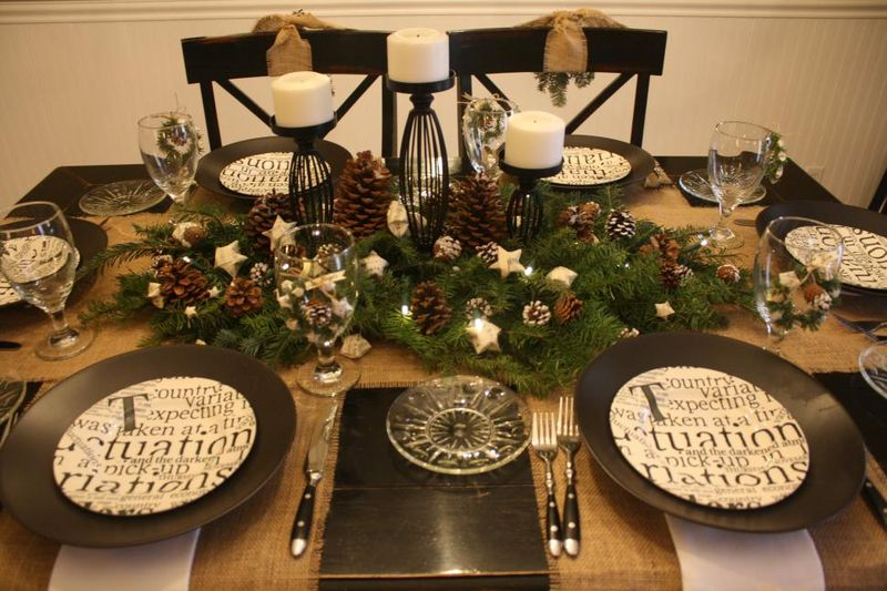 DIY Almost-Free Christmas Centerpiece