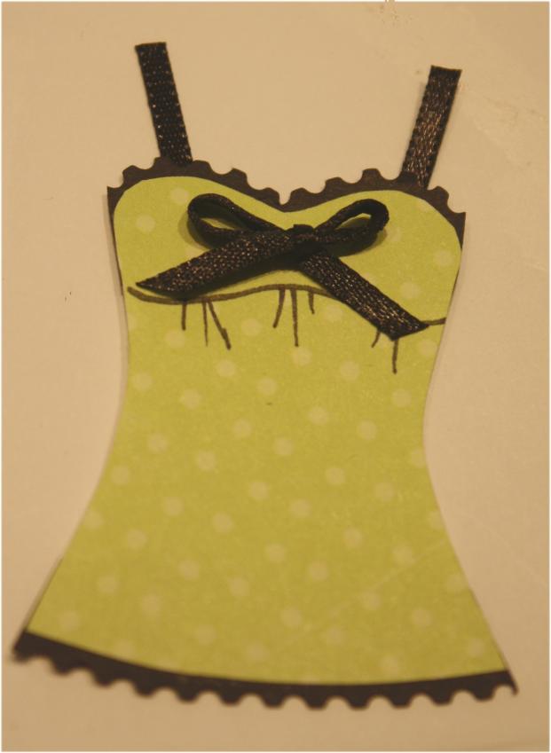 Trimming homemade lingerie 8