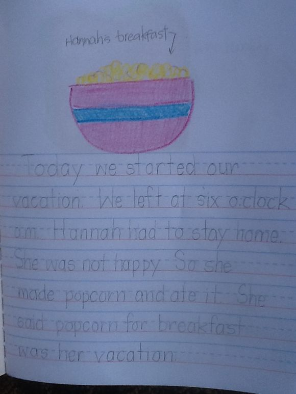 My Vacation.  By Gwen. Grade 2