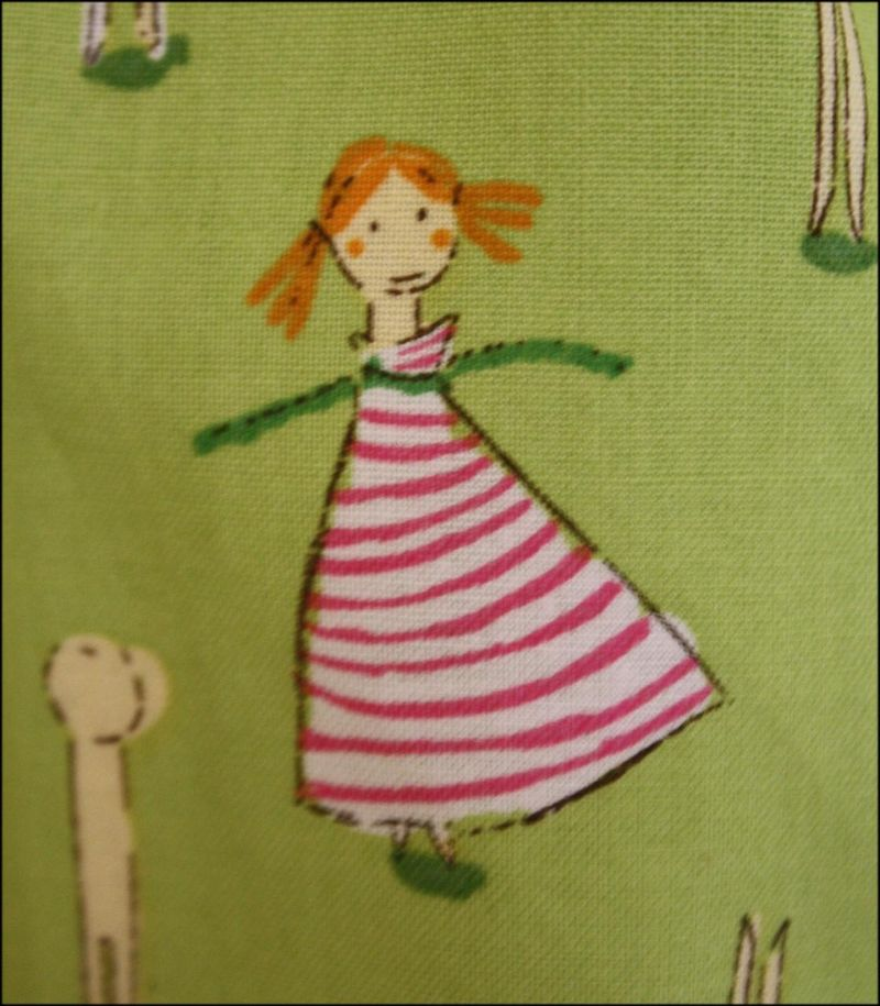 Clothespin Doll Fabric - Close-up