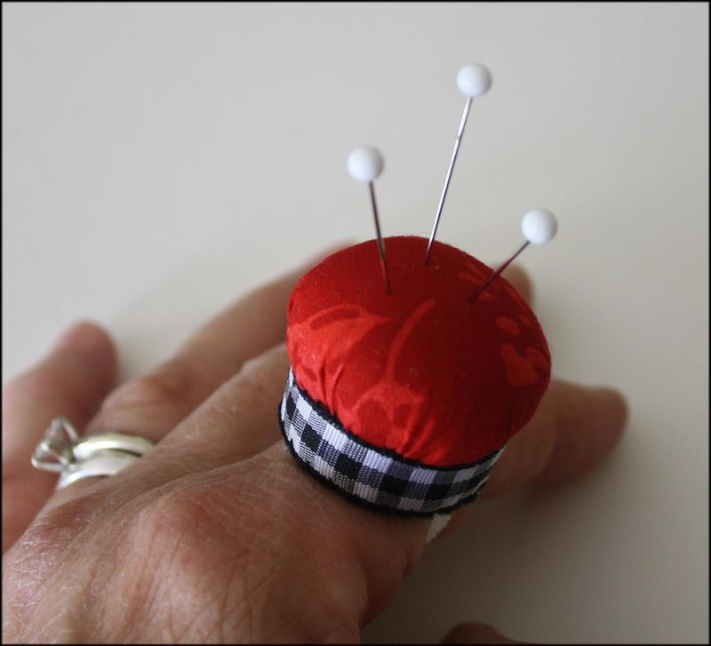 Pincushion Ring Tutorial - Finished Product