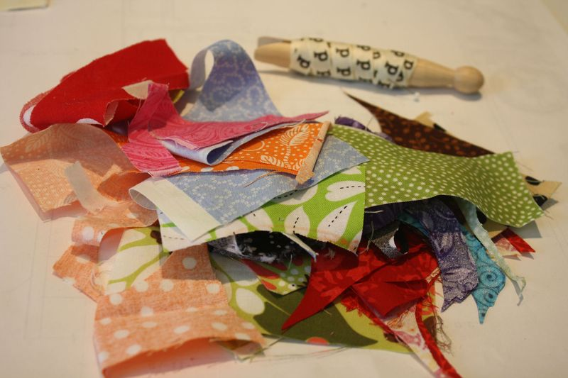 Fabric Scraps for Bunting