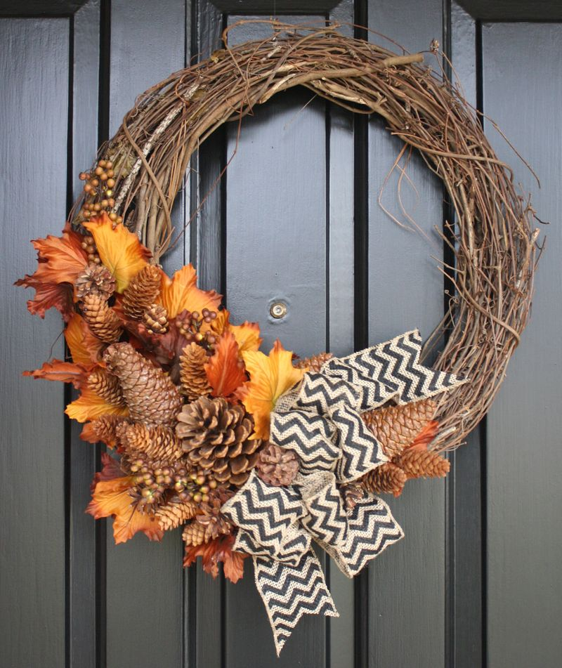 Pinecone wreath two
