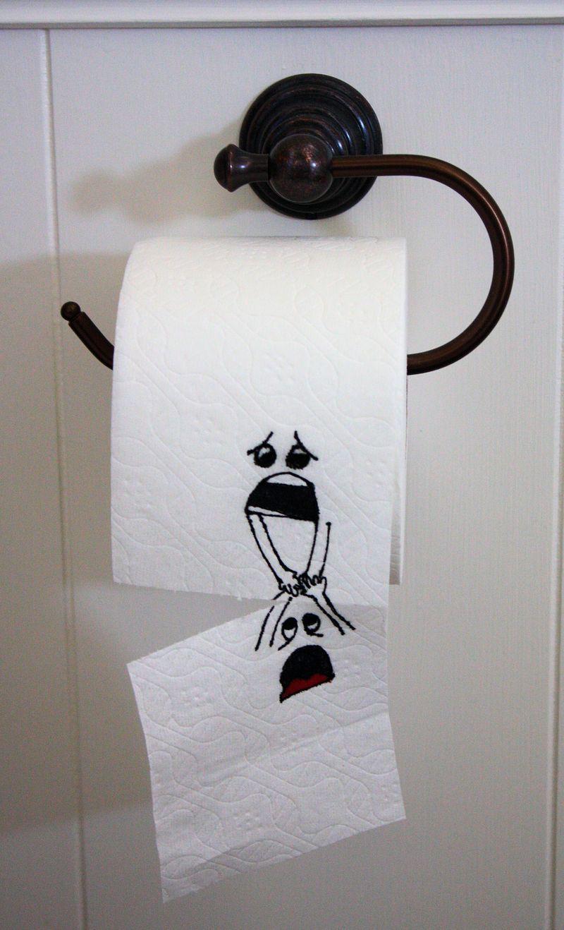 Toilet paper 'art'