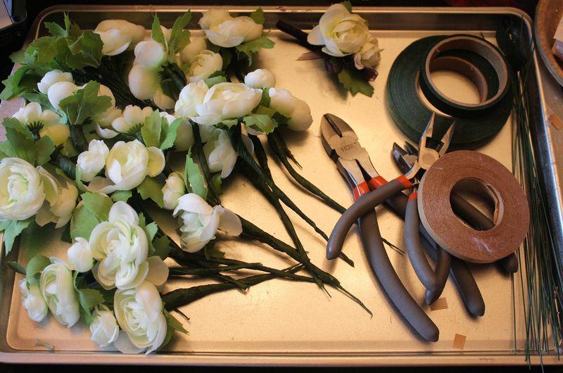Silk Ranunculus Boutonierres DIY