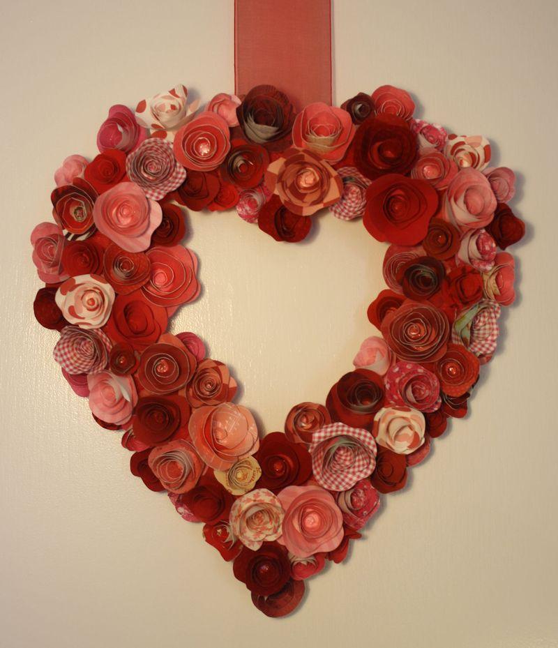 Paper Roses Valentine's Wreath