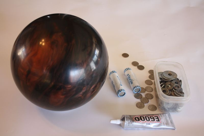 Bowling Ball Upcycle - supplies